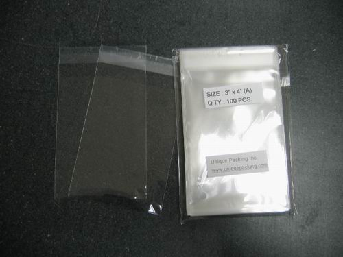 1000- 3 x 4 Resealable Cello Bags