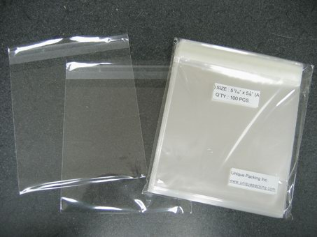 2000- 5.5x5.5 ( 5 11/16 x 5 9/16 ) Clear Resealable Cello Bags