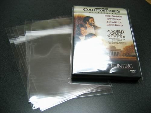 500- Standard DVD Case/Box Wrap Bags