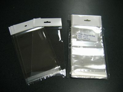 2000- 4 x 6 Cello Bags w/ hang hole