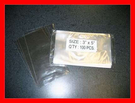 1000- 3 x 5 Clear Open-End Cello Bags